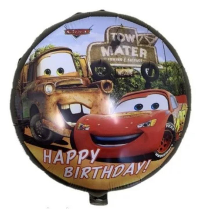 """Фольгована кулька коло Happy Birthday тачки 18"""" Китай"""