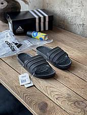 Шльопанці чоловічі Adidas Adilette Boost Triple Black EH2256, фото 2