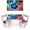 """Детский стол со стульчиками """"Тролли"""""""