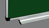 Доска для мела 400x100 см в алюминиевой рамке ABC Office трехсекционная зеленая, фото 2