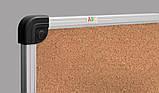 Дошка пробкова 65x100 см ABC Office, в алюмінієвій рамці S-line. пробкова дошка, дошка для нотаток, коркові, фото 2