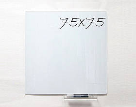 Скляна дошка 75 см х 75 см Tetris безрамна магнітно-маркерна. Приховане кріплення