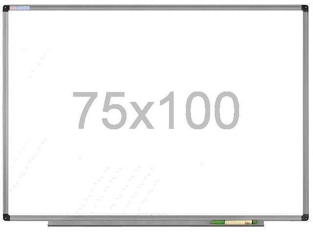 Магнітно-маркерна дошка 75х100 см в алюмінієвій рамі UkrBoards. Біла дошка для малювання маркером