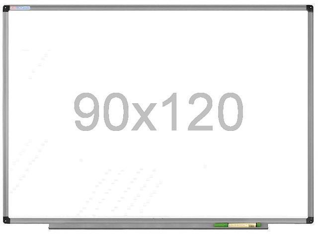 Магнитно-маркерная доска 90х120 см в алюминиевой раме UkrBoards. Белая доска для рисования маркером