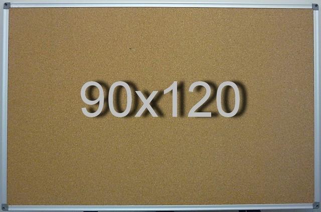 Пробковая доска на стену в алюминиевой раме 90х120 см UkrBoards. Корковая доска для заметок