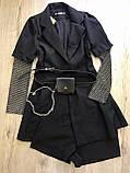 Костюм жіночий M(р) чорний 9628 КНР Весна-D, фото 2