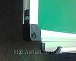 Шкільна дошка магнітно-крейдяна в алюмінієвій рамі 120х180 см UkrBoards. Шкільні дошки крейдяні, фото 5