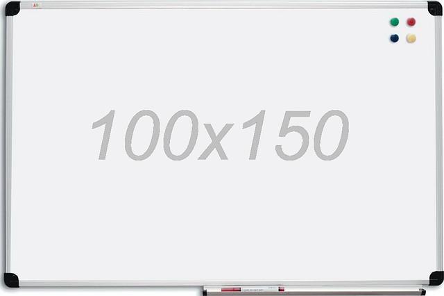 Дошка магнітно-маркерна 100х150 см в алюмінієвій рамі S-line ABC. Магнітно-маркерна дошка
