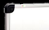 Дошка магнітно-маркерна 100х150 см в алюмінієвій рамі S-line ABC. Магнітно-маркерна дошка, фото 3