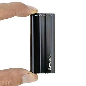 Мини диктофон цифровой Savetek 600 8 Гб + VOX с активацией голосом Черный (01827)