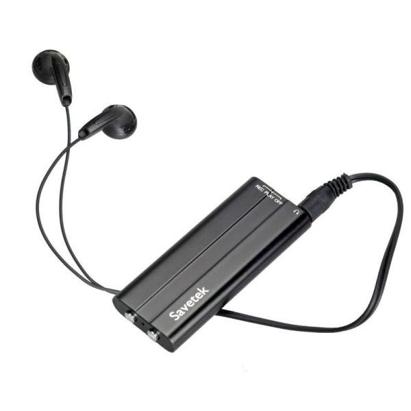 Міні диктофон Savetek 600 8 Гб Чорний (100167)