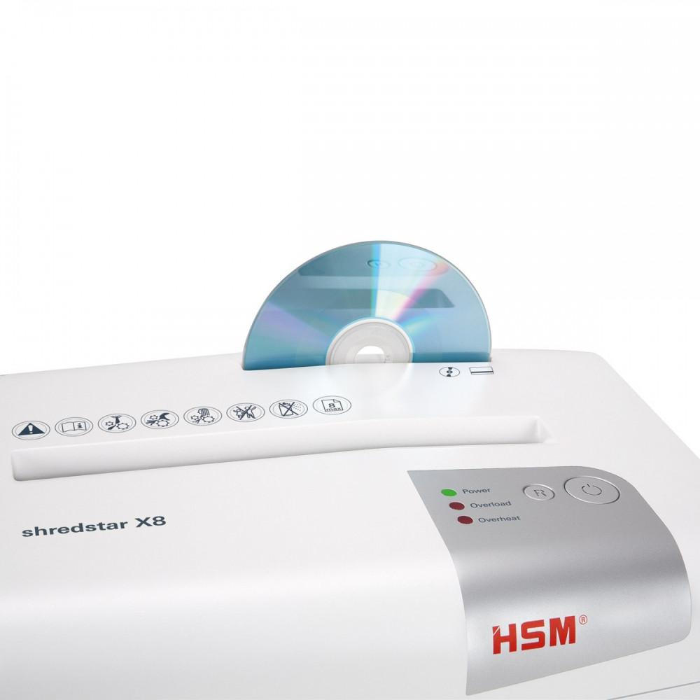 Знищувач документів HSM shredstar X8 4.5x30 (4026631057738). шредери паперів, подрібнювач паперів, офісний