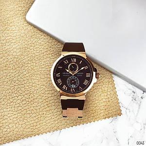 Наручний годинник ААА класу Ulysse Nardin Maxi Marine AAA Gold-Brown