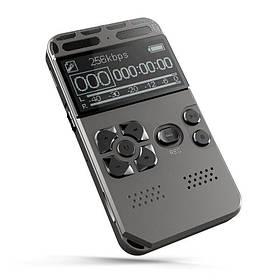 Диктофон цифровой профессиональный Hyundai E-188 8 Гб 80 часов записи SD 64 Гб VOX таймер MP3 (03001)