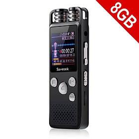 Профессиональный цифровой диктофон для журналиста Savetek GS-R07 8 Гб (100290)