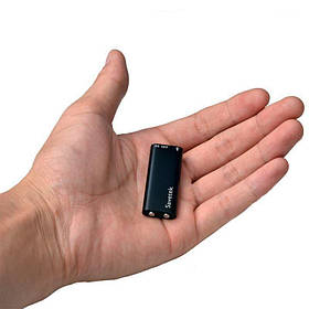 Мини диктофон наушник Savetek 200, 8 Гб, VOX. Цифровой очень маленький диктофон. dictofon