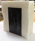 Салфетница 9х9 см, подставка для салфеток меловая, фото 5
