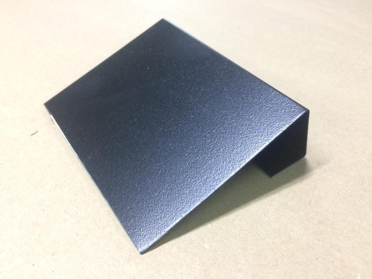Ценник меловой металлический с подставкой для надписей мелом и маркером черный