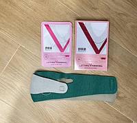 Комплект по уходу за лицом Бандаж для подбородка + набор лифтинг масок (5шт)