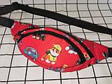 Сумка на пояс Ткань Принт спортивные барсетки сумка только опт, фото 3