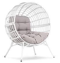 Кресло для дачи и сада круглое металлическое di volio arancia бело-серое