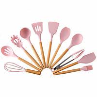 """Кухонные принадлежности """"Kitchen & dining Розовый"""" набор силиконовый, кухонная утварь (кухонне приладдя) (TI)"""