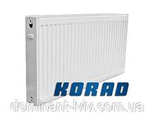 Стальной радиатор Korad 22K 600/1000, радиатор панельный боковое подключение