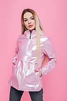 Женская ветровка - анорак розовая, спортивный ветровка с капюшоном Unique