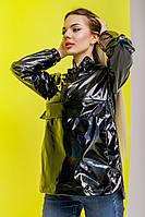 Женская ветровка - анорак черная, спортивный ветровка с капюшоном Unique