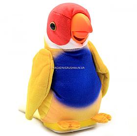 Мягкая интерактивная игрушка-повторюшка Попугай Колька желтый, 18 см (M 1984)