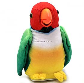 Мягкая интерактивная игрушка-повторюшка Попугай Колька зеленый, 18 см (M 1984)