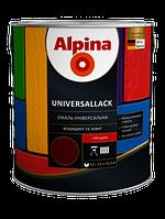 Эмаль алкидная Alpina Universallack SM RAL 1015 0,75L