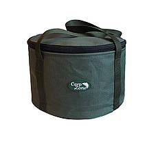 Мягкое ведро для прикормки с крышкой Carp Zone Bait Bucket 15L