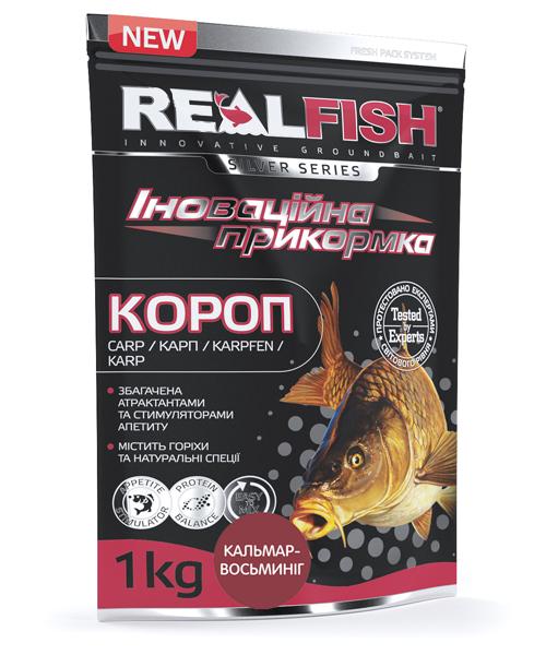 """Прикормка Real Fish """"Короп"""" (Кальмар - Восьминіг)"""