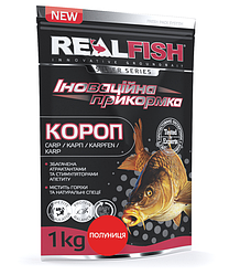 """Прикормка Real Fish """"Короп"""" (Полуниця)"""