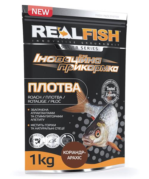 """Прикормка Real Fish """"Плотва"""" (Кориандр - Арахис)"""