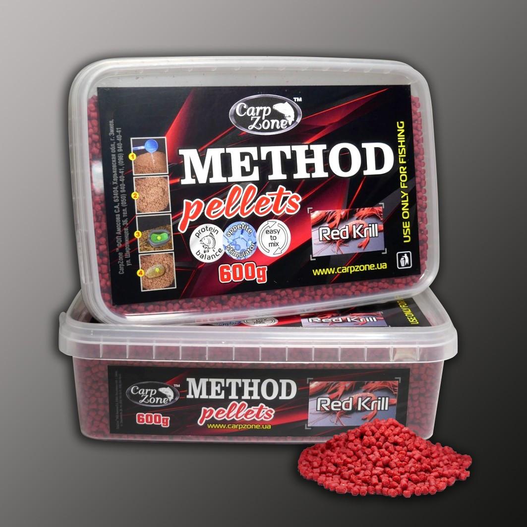 Метод пеллетс Method Pellets Red Кrill (Красная Креветка) 600g 3mm