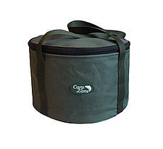 Мягкое ведро для прикормки с крышкой Carp Zone Bait Bucket 20L