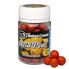 Бойлы насадочные пылящие Boilies Method & Feeder series Soluble Acid Pear (Кислая Груша) 10mm/60pc