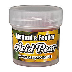 Бойлы насадочные пылящие Boilies Method & Feeder series Soluble Acid Pear (Кислая Груша) 10mm/15pc