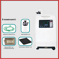 Кислородный концентратор с увлажнителем 10 литров OLV-10 Dual Flow + Подарок