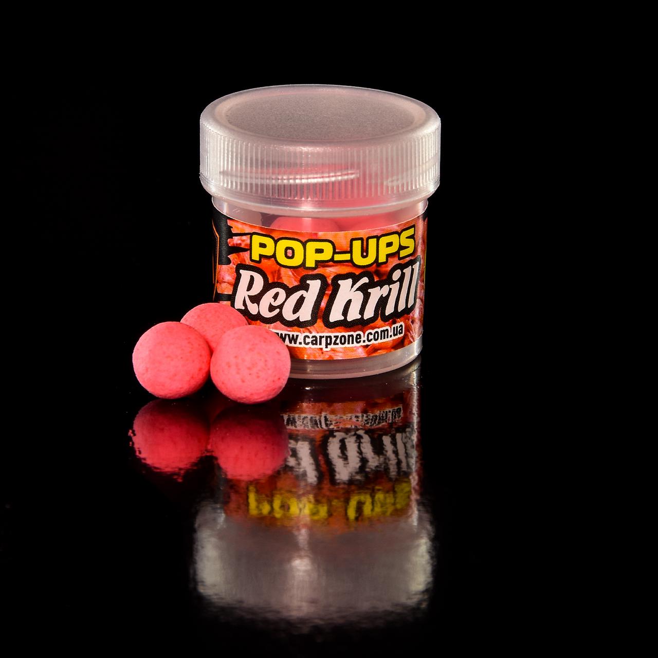 Поп Ап Pop-Ups Fluro Red Кrill (Червона Креветка) 12mm/10pc