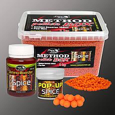 Набор Method Pellets Box Spice (Специи) 3mm/1kg + Amino Booster 100ml + Pop-Ups 8mm/30pc