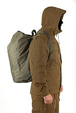 Тактическая транспортная сумка-баул мешок армейский Trend олива  на 45 л с Oxford 600 Flat, фото 3