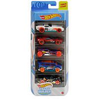 Набор из 5 машинок Для Трека Hot Wheels Track Builder Mattel GTN36