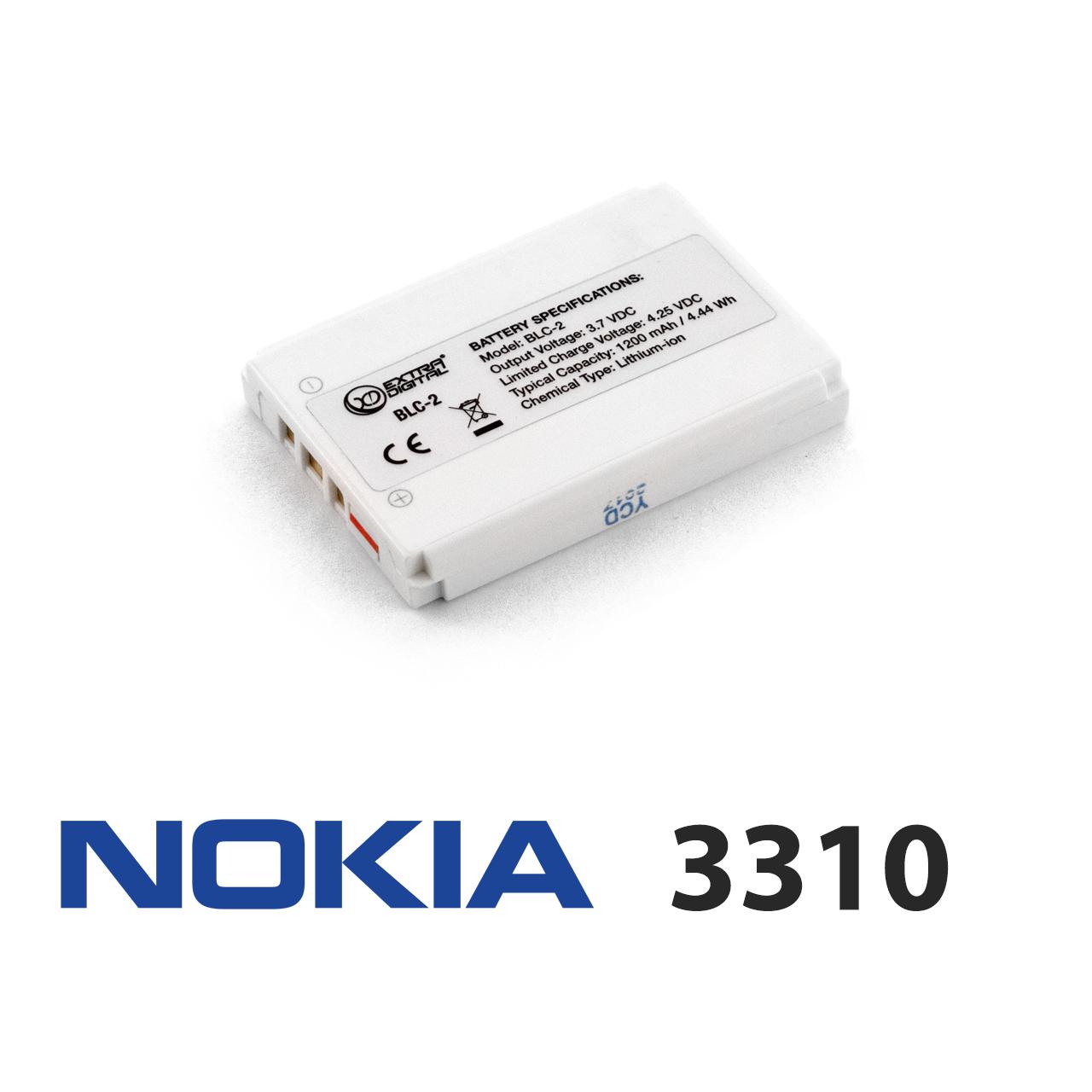 Акумулятор для Nokia 3310 (BLC-1/BLC-2), батарея нокіа нокія