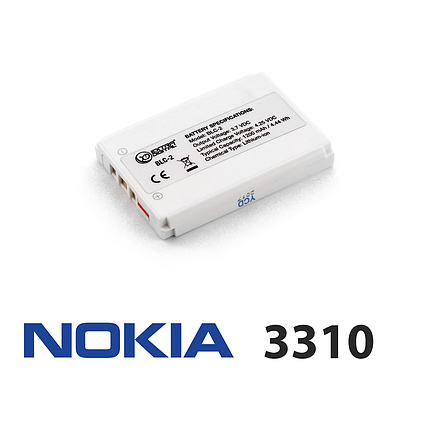 Акумулятор для Nokia 3310 (BLC-1/BLC-2), батарея нокіа нокія, фото 2
