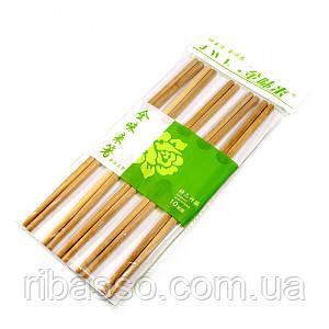 Палички для їжі бамбук 10 пар 24х12х1 см 30840