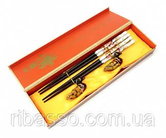 9220000 Палички для їжі 2 пари + 2 підставки в подарунковій коробці №4