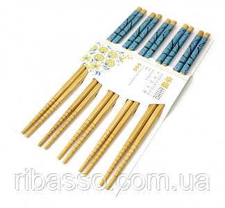9220011 Палички для їжі бамбук з картинкою в блістері набір 5 пар №3